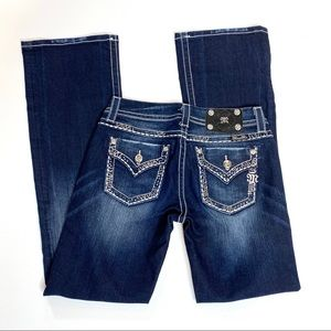 Miss Me Easy Boot jeans sz 26